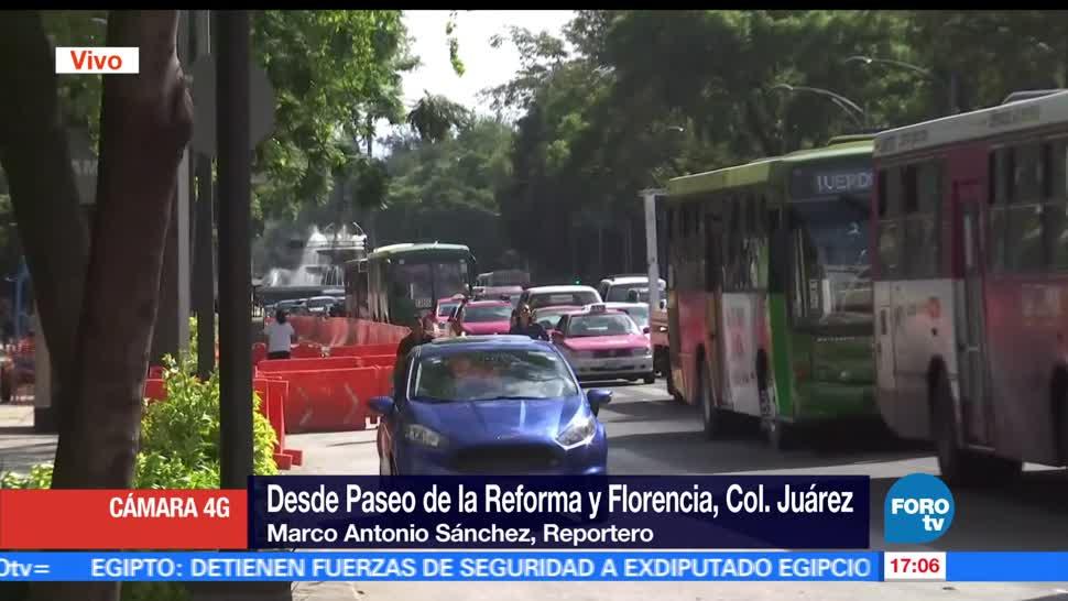 Pese a suspensión, sigue construcción, Metrobús, Reforma