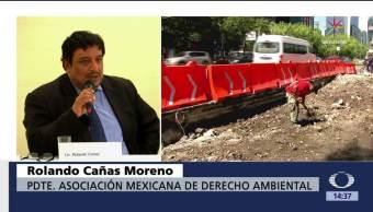 Denuncian daños, obras, línea 7, Metrobús CDMX