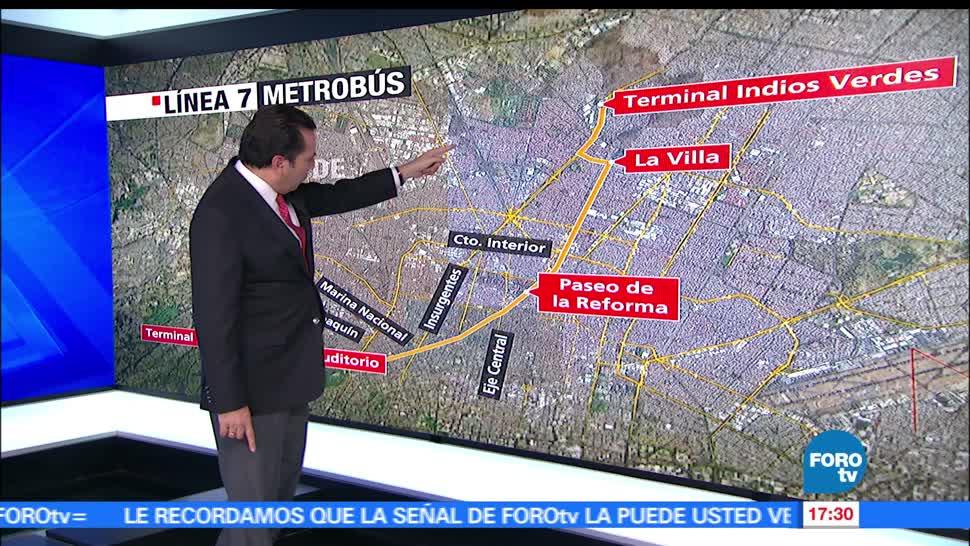 Indios Verdes, zonas recorrerá, L7 del Metrobús, Periférico