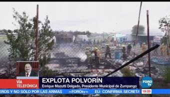 noticias, forotv, herido, explosión, polvorín, Zumpango