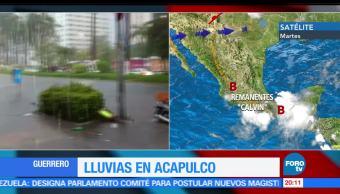 noticias, forotv, lluvias, intensas, Calvin, Acapulco