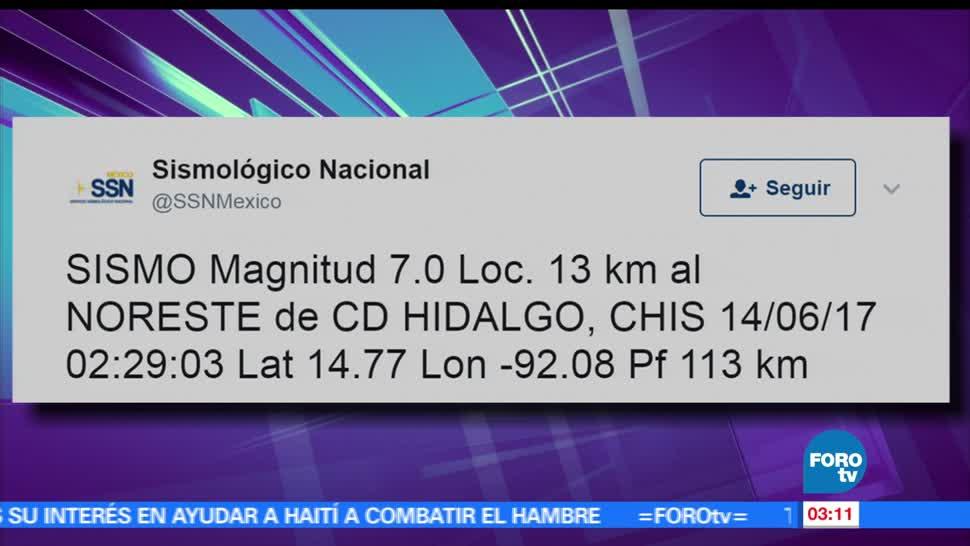 sismo de 7.0 grados, grados de magnitud, epicentro en Chiapas, Chiapas, movimiento telúrico, Guatemala