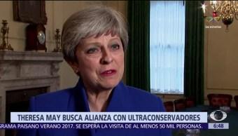 Theresa May, coalición de gobierno, negociar el Brexit, Partido Unionista Demócrata