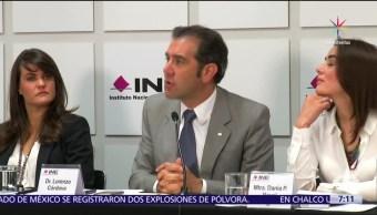 Instituto Nacional Electoral, representantes, partidos políticos, 4 de junio