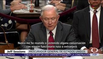 investigación del Rusiagate, Estados Uidos, fiscal general, Jeff Sessions, Senado