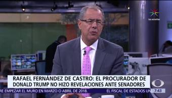 Rafael Fernández de Castro, mesa de Despierta, fiscal Jeff Sessions, Senado de EU, Rusiagate