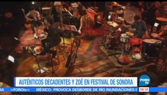 Auténticos Decadentes, Zoé, Mon Laferte, Festival Sonoro 2017, Festival Sonoro, 2017