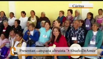 Esteban Arce, reportaje, campaña altruista, #AbueloDeAmor