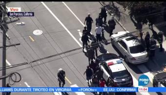 policía de San Francisco, tiroteo, almacén de UPS, varios heridos