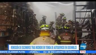 Sofocan, incendio, bodega, Xochimilco, bomberos, ciudad de méxico
