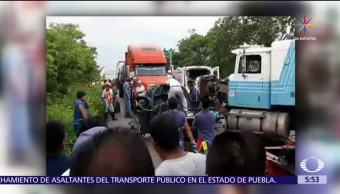 Palenque, Chiapas, camioneta, tráiler, muertos