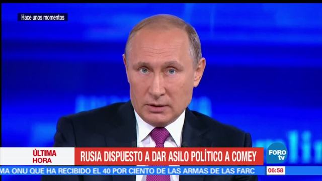 presidente ruso, Vladimir Putin, ex director del FBI, James Comey, asilo político