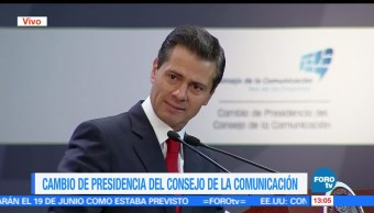 noticias, forotv, Enrique Peña Nieto, encabeza, reunión, Consejo de la Comunicación