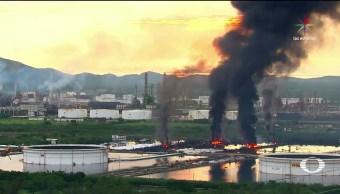 Incendio, refinería, Oaxaca, cobra, vida, bombero