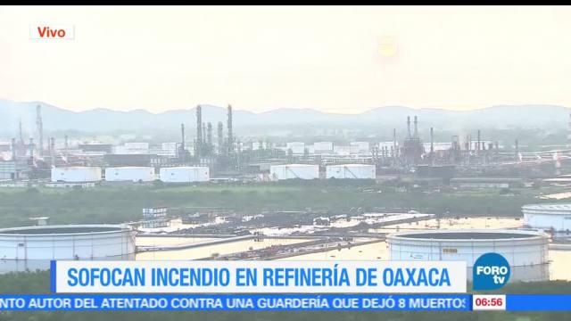 Controlan, incendio, refinería, Salina Cruz