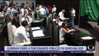 Congreso, Quintana Roo, avala, desaparición del fuero