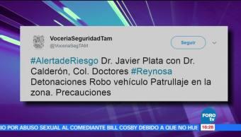Activan, alerta riesgo, detonaciones, Tamaulipas, Policia, Reynosa