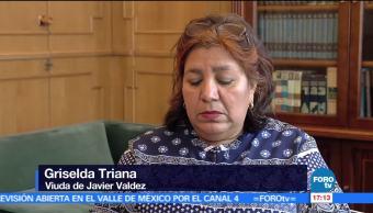 viuda, periodista, Javier Valdez, homenaje póstumo