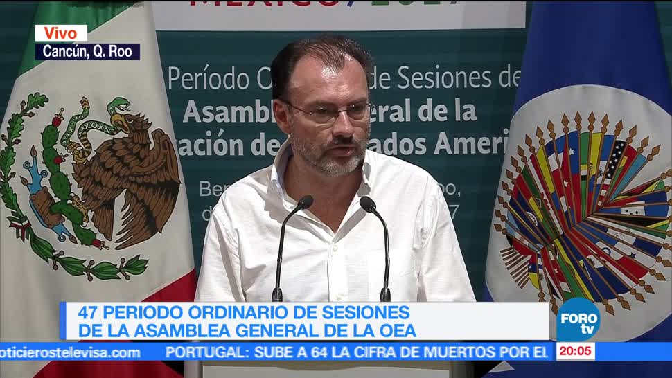 noticias, forotv, Inicia sesión ordinaria de la Asamblea de la OEA