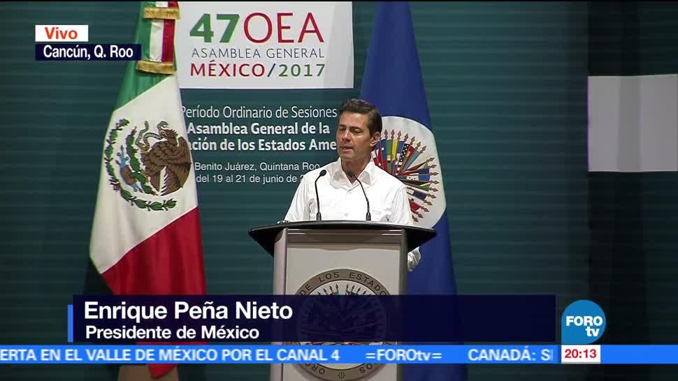 noticias, forotv, EPN inaugura el 47 Periodo Ordinario de Sesiones de la Asamblea de la OEA