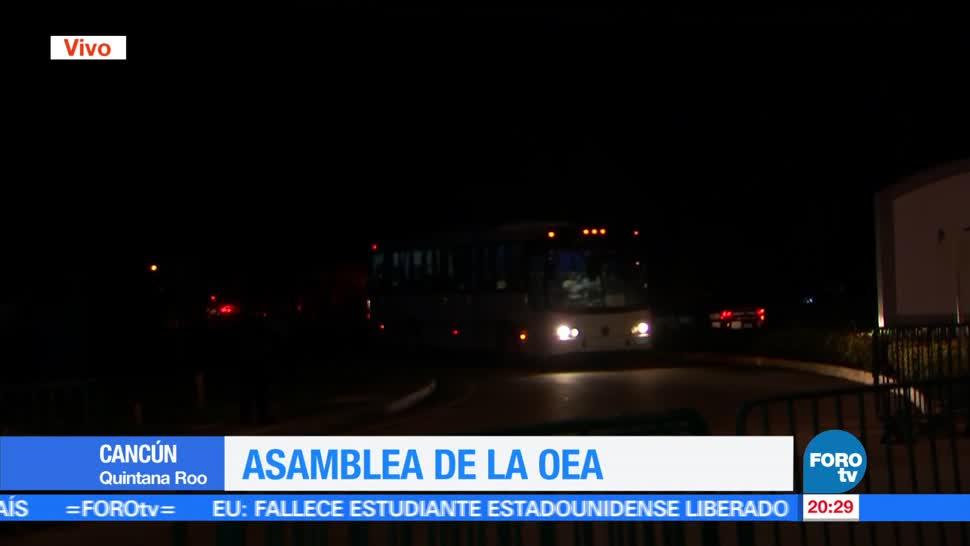 noticias, forotv, Fuerte dispositivo de seguridad, resguarda, sede, Asamblea de la OEA
