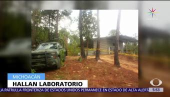 Michoacán, Ejército, laboratorio, Uruapan, Gabriel Zamora, droga sintética