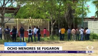 fuga de ocho menores, tutelar de Güemez, Tamaulipas, delitos, fuero común