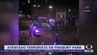 camioneta, arrollar a peatones, mezquita en Londres, creyentes