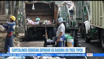 Habitantes, Ciudad de México, basura, inorgánicos reciclables, inorgánicos no reciclables, orgánicos