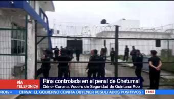 Policías estatales, motín, interior del penal, Chetumal, Quintana Roo
