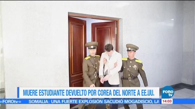 estadounidense, Otto Warmbier, Corea del Norte, coma