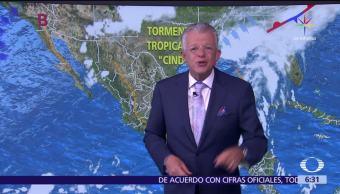 tormenta tropical Cindy, nublados, tormentas, México, Península de Yucatán