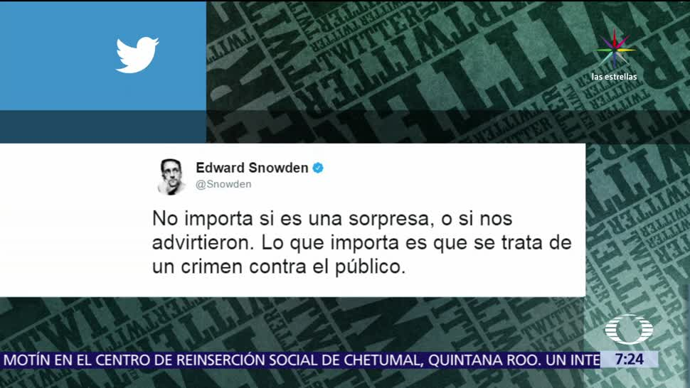 espionaje, periodistas, crimen, exasesor de la CIA, Edward Snowden
