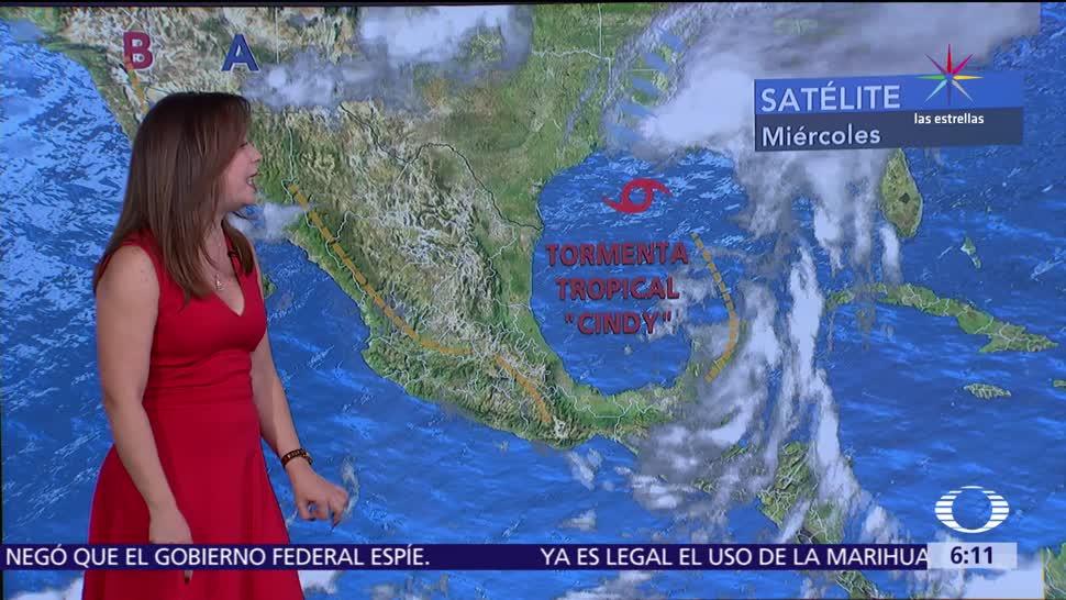 tormenta tropical Cindy, canal de baja presión, tormentas, México