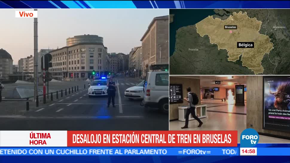 Desalojan, estación central, trenes, Bruselas, crimen, inseguridad
