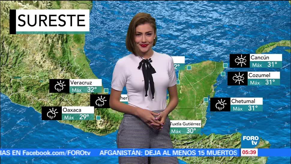 tormenta tropical 'Cindy'bandas nubosas, República Mexicana, canales de baja presión, Yucatán