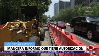 Miguel Ángel Mancera, construcción, Línea 7, Metrobús, CDMX