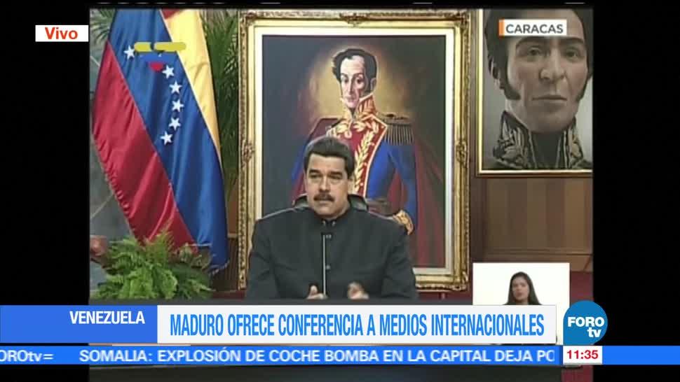 presidente de Venezuela, Nicolás Maduro, medios internacionales, gobierno