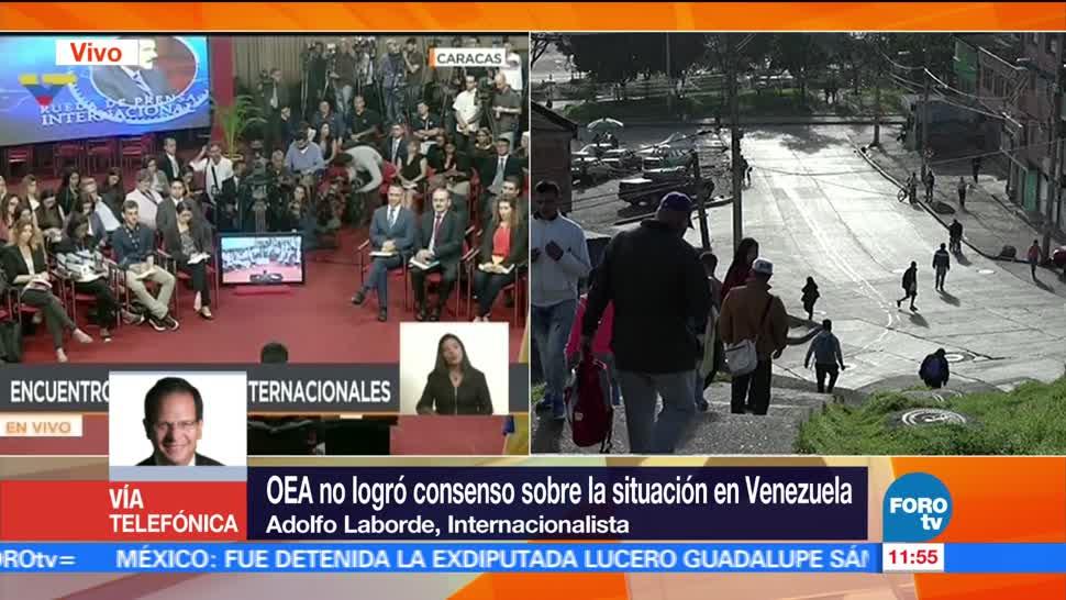 internacionalista Adolfo Laborde, OEA, crisis en Venezuela, Venezuela