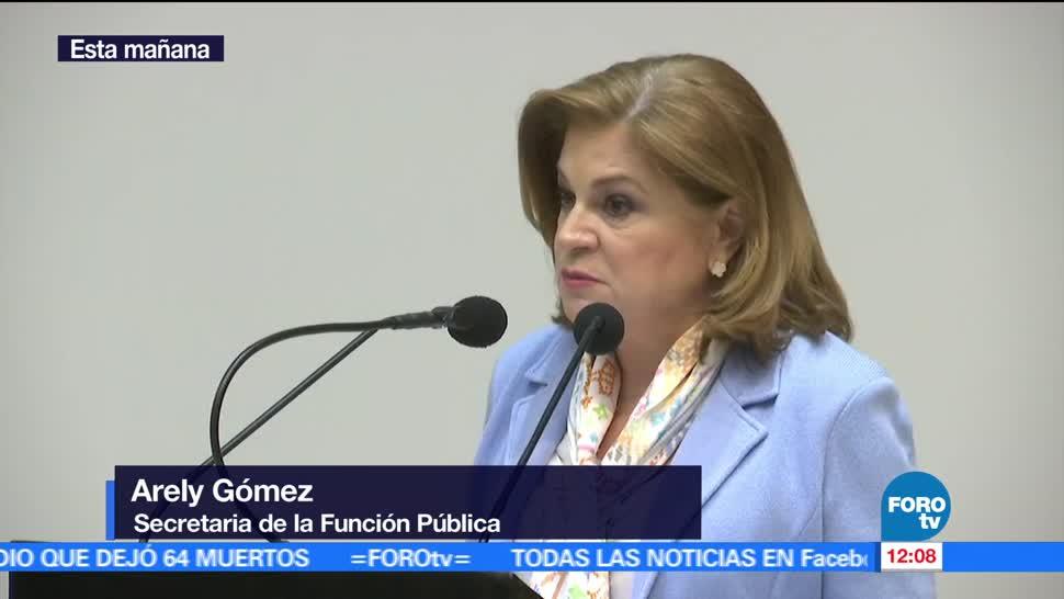 Arely Gómez, secretaria de la Función Pública, sistema nacional anticorrupción, gobierno