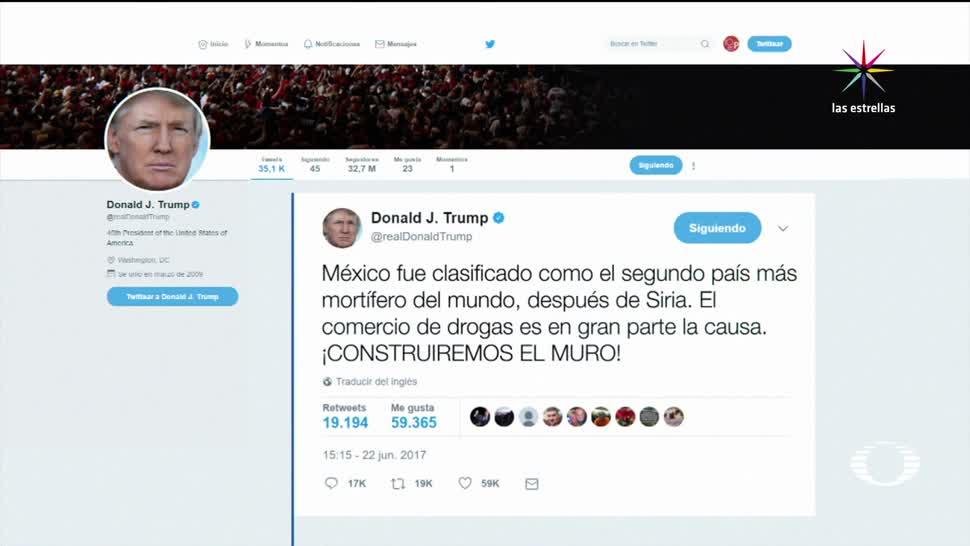 Trump, se equivoca de nuevo, ahora, sobre México, segundo país, más violento