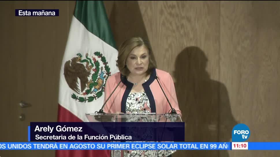 Arely Gómez, Sistema Nacional de Fiscalización, conferencia