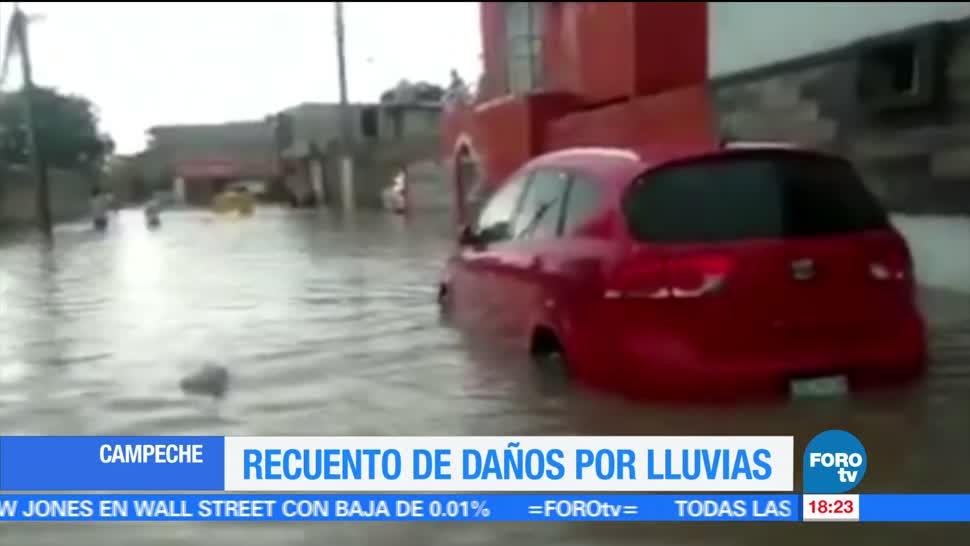 noticias, forotv, Lluvias, vaguada, afectan a 44 viviendas, Campeche