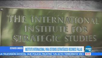noticias, forotv, Instituto Internacional, Estudios Estratégicos, fallas, Instituto Internacional para Estudios Estratégicos