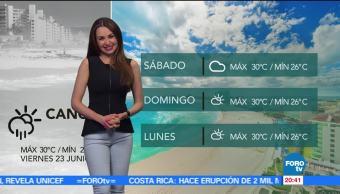 El clima, Mayte Carranco, clima, temperatura, calor, lluvia