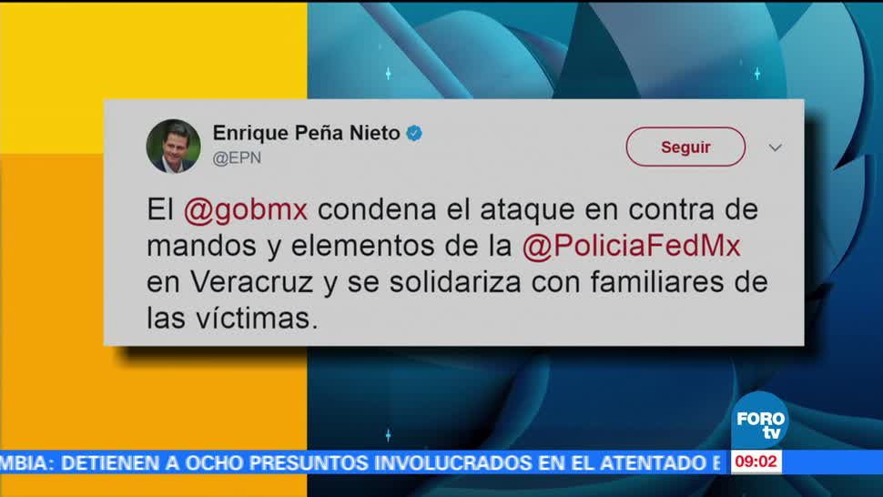 presidente EPN, ataque, elementos de la Policía Federal, Veracruz, EPN