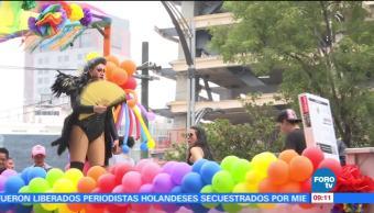 México, movimiento mundial LGBTI, marcha, simpatizantes, Paseo de la Reforma