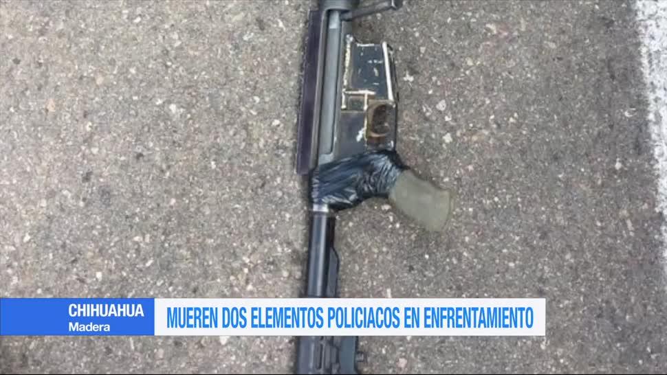 Mueren, dos elementos policíacos, enfrentamiento, Chihuahua