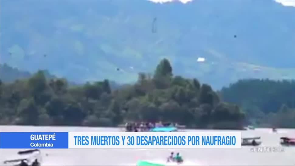 Tres muertos30 desaparecidos, naufragio, Guatepé, Colombia