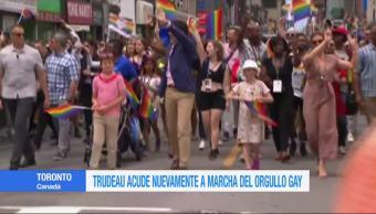 Trudeau, nuevamente, marcha, orgullo gay